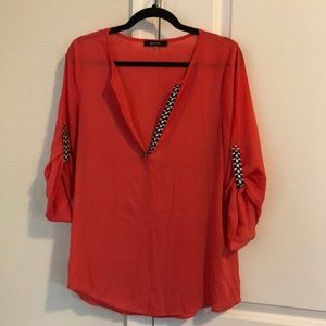 Women's Blouse, 3/4 inch sleeves